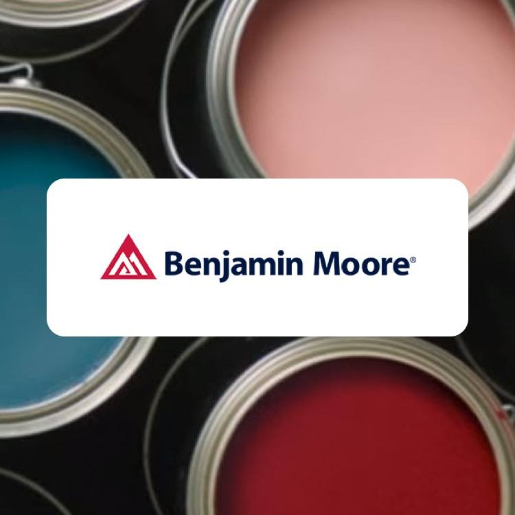 Benjamin Moore Paint Cans with Logo