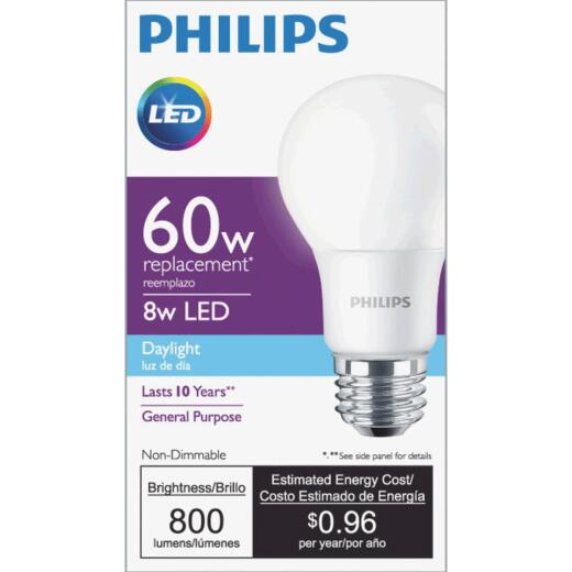 Philips 60W Equivalent Daylight A19 Medium LED Light Bulb