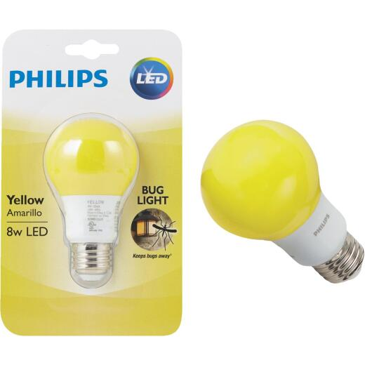 Philips 60W Equivalent Yellow A19 Medium LED Bug Light Bulb