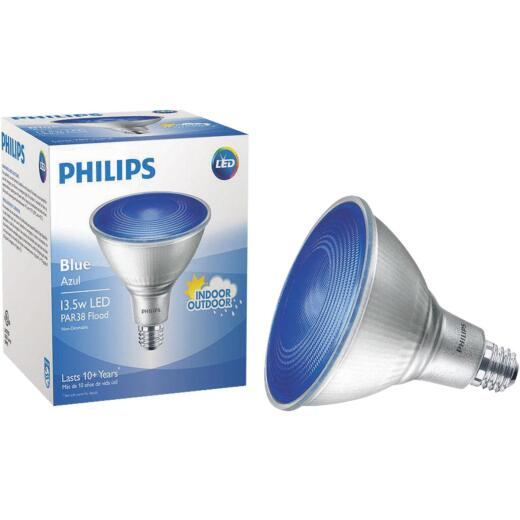 Philips 100W Equivalent Blue PAR38 Medium Dimmable LED Floodlight Light Bulb